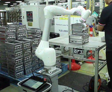 Cobot in a production line