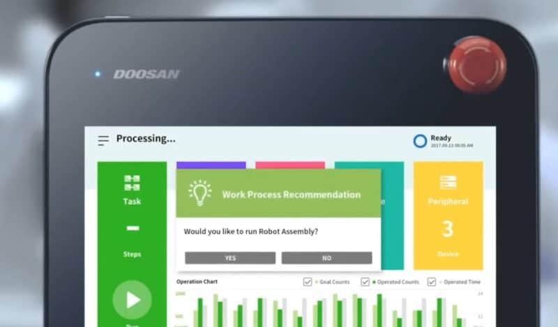 Teach Pendant unità di controllo e programmazione a livello operatore del Cobot Doosan